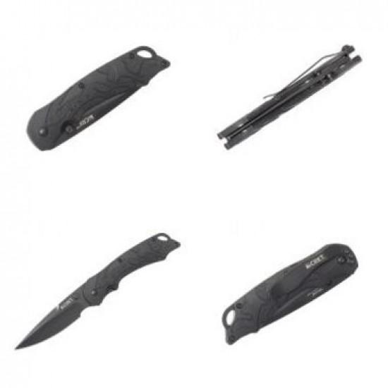 Zatvárací nôž CRKT 1100 Moxie čierny