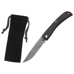 Zatvárací nôž Haller 42984 damaškový eben