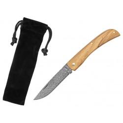 Zatvárací nôž Haller 42987 damaškový, olivový