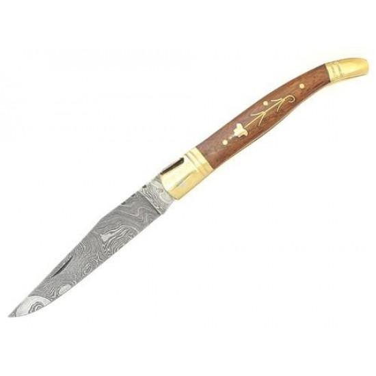 Damaškový zatvárací nôž Laguiole Bougna 5262