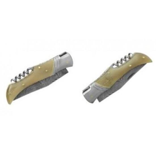 Zatvárací nôž Laguiole Bougna 5093 damaškový rohovina
