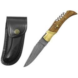 Zatvárací nôž Laguiole Bougna 5292 damaškový palisander