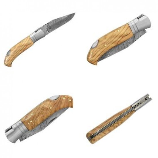 Zatvárací nôž Laguiole Bougna 5882 damaškový teak