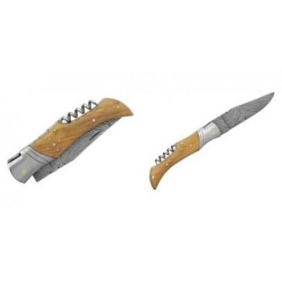 Zatvárací nôž Laguiole Bougna 5892 damaškový teak