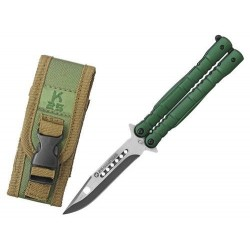 Nôž motýlik RUI Tactical (K25) 02130 zelený