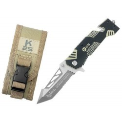 Zatvárací nôž RUI Tactical (K25) 19944-A záchranársky